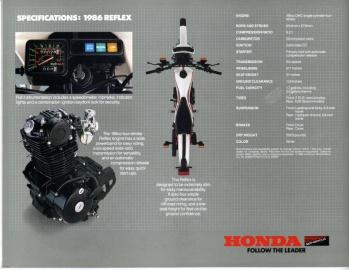 1986 Honda Tlr200 Reflex Specifications Bikematrix Net